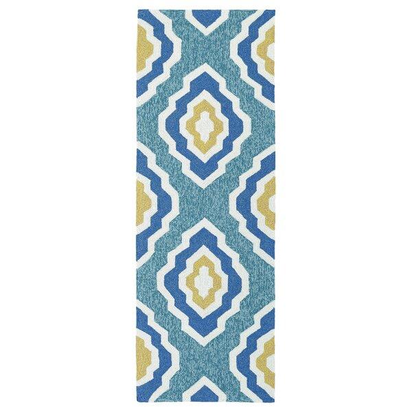 Escape Hand-Tufted Blue Indoor/Outdoor Area Rug by Kaleen