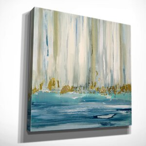 'Mountain Water I' by Susan Jill Framed Painting Print on Wrapped Canvas by Wexford Home