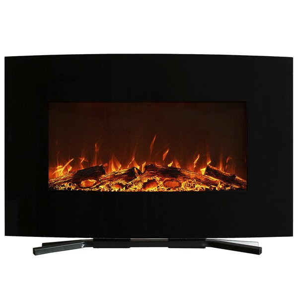 Curved Wall Mounted Electric Fireplace by Northwest