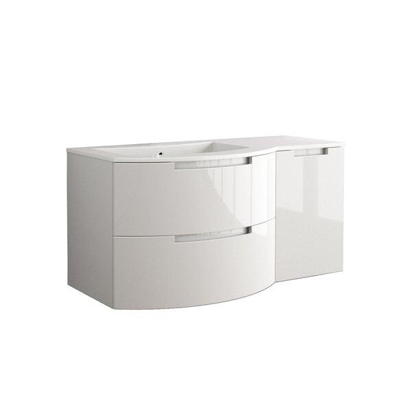 Oasi 43 Single Right Side Cabinet and Shelf Vanity Set by LaToscana