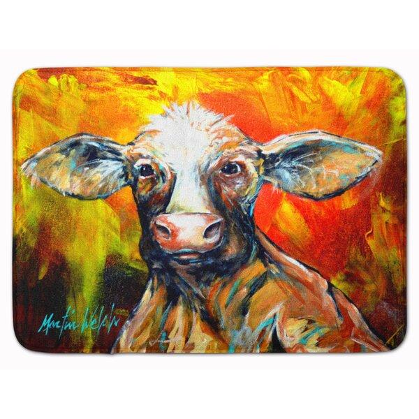 Another Happy Cow Rectangle Microfiber Non-Slip Bath Rug