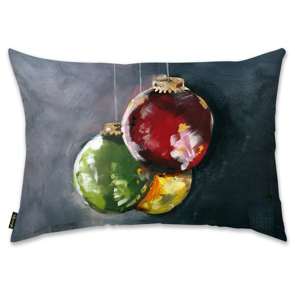 Ornaments Lumbar Pillow by The Holiday Aisle