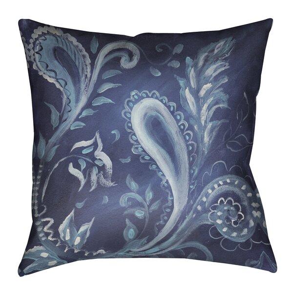 Joey Indigo Pattern III Outdoor Throw Pillow