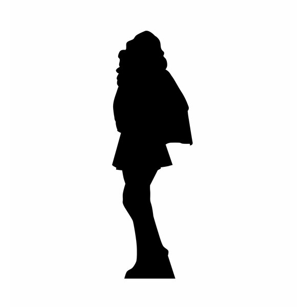 Superhero Girl Silhouette Cardboard Stand-Up by Advanced Graphics