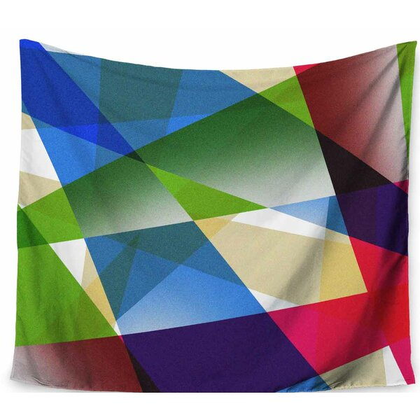 Tobe Fonseca Geometric Fractal Prism Tapestry and Wall Hanging by East Urban Home