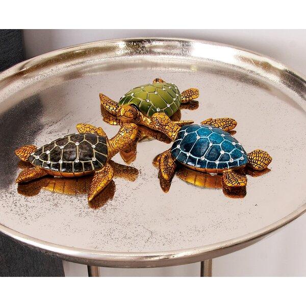 Polystone Turtle Figurine Set (Set of 3) by Cole & Grey