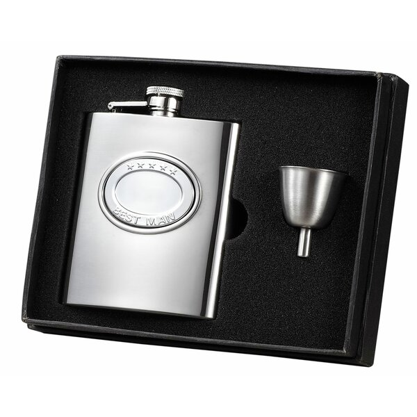 5 Stars Best Man Flask Gift Set by Visol Products