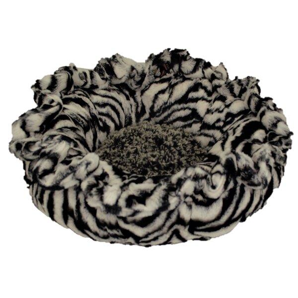 Lily Pod Zebra Midnight Frost Bolster by Bessie and Barnie