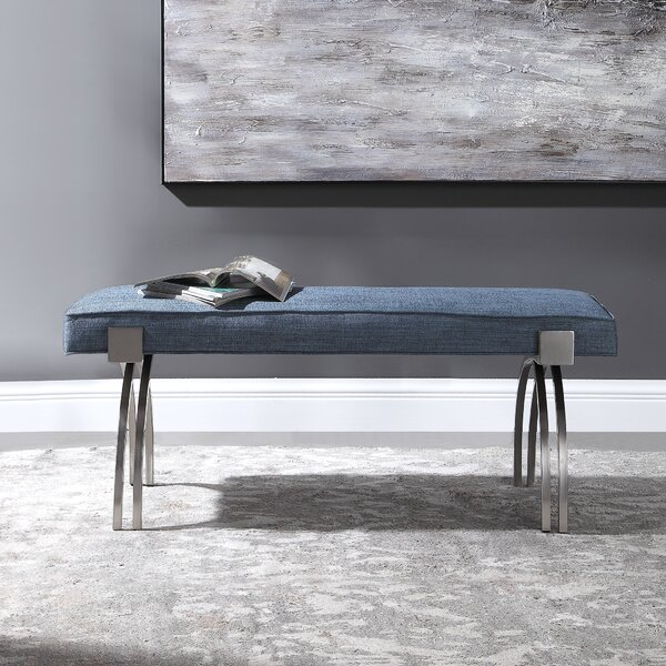 Hanish Upholstered Bench by Brayden Studio