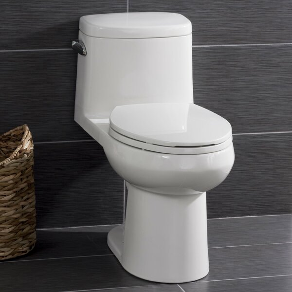 High Efficiency ADA Height 1.28 GPF Elongated One-Piece Toilet by Miseno