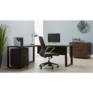 Albin 4 Piece L-shaped Desk Office Suite