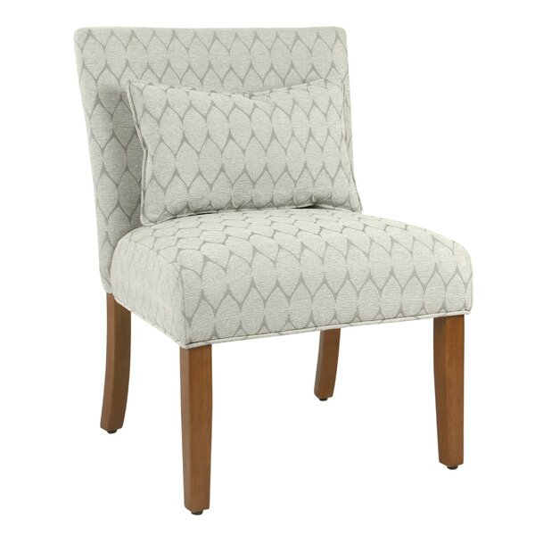 Deschamps Fabric Upholstered Wooden Side Chair by Gracie Oaks
