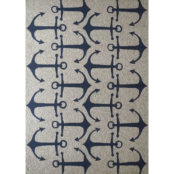 Vivid Blue Anchors Indoor/Outdoor Area Rug by Rug Factory Plus
