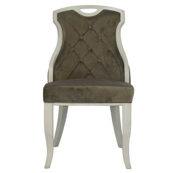 Trotman Velvet Serenity Upholstered Dining Chair (Set of 2) by Ophelia & Co.