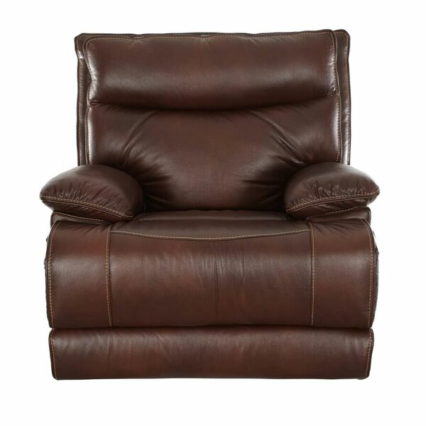 Ashlei Leather Manual Wall Hugger Recliner by Red Barrel Studio Red Barrel Studio