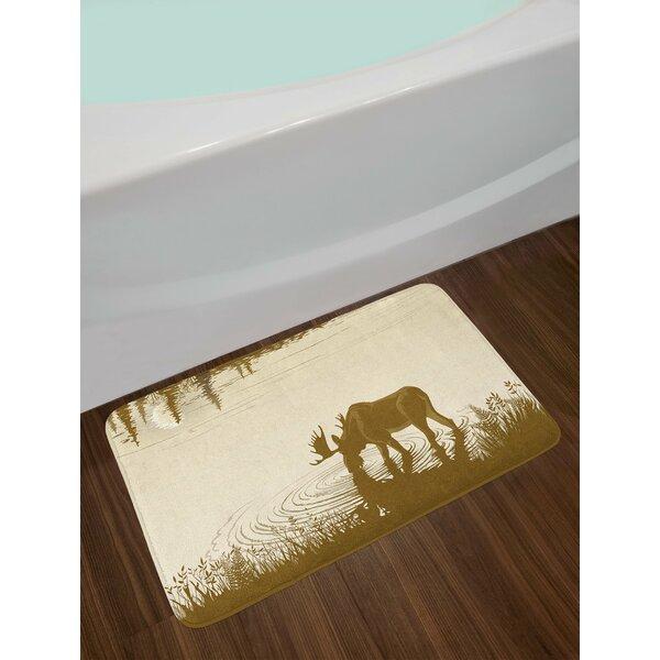 Animal Silhouette of Bath Rug by East Urban Home