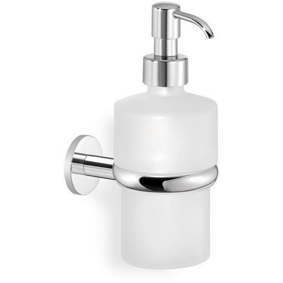 Manfredi Twist Wall Frosted Glass Pump Soap & Lotion Dispenser by Latitude Run