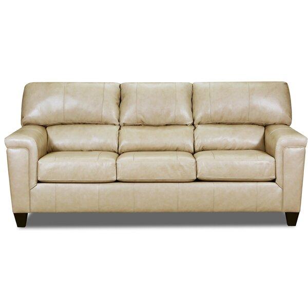 Shamir Leather Sofa By Red Barrel Studio