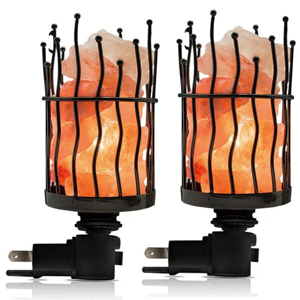 Himalayan Glow Natural Salt Pillar Night Light (Set of 4) by WBM LLC
