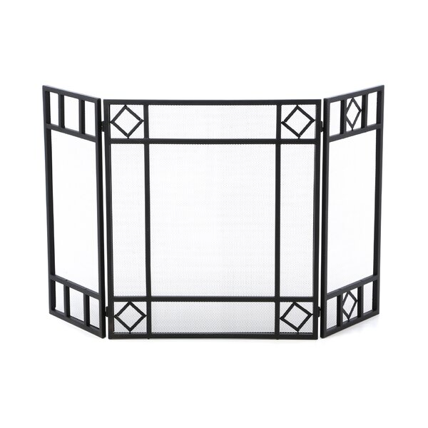 3 Panel Iron Fireplace Screen By Uniflame