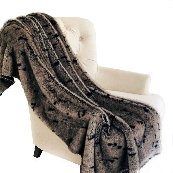 Melba Luxury Tissavel Faux Fur Throw by Mercer41