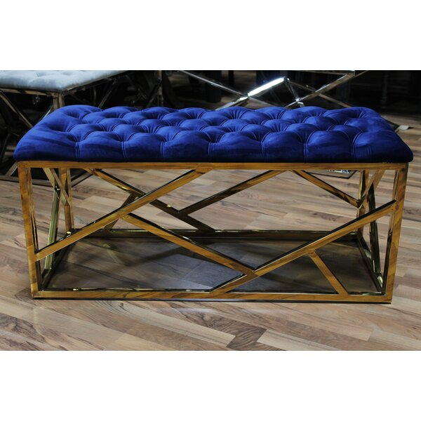 Eufaula Upholstered Bench by Everly Quinn