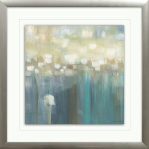 'Aqua Light' Framed Painting Print by Ebern Designs