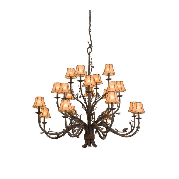 Barkhamsted 20 - Light Shaded Tiered Chandelier By Millwood Pines