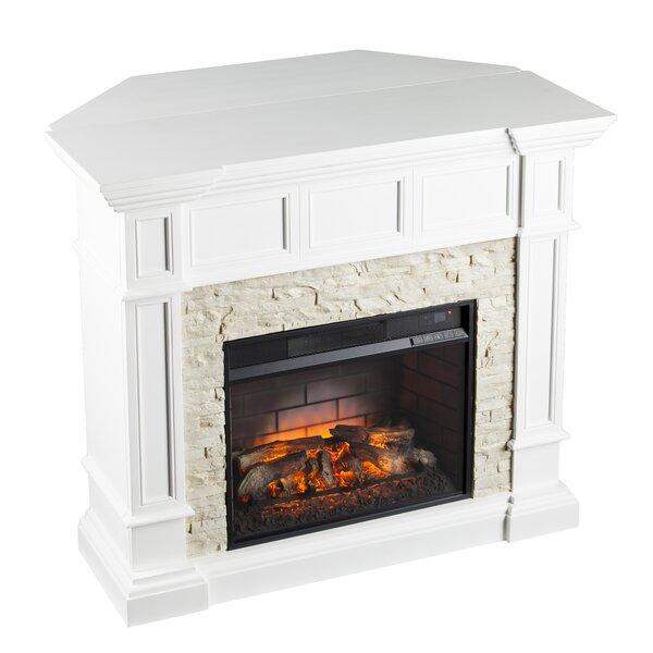 Shanks White Corner Electric Fireplace by Alcott Hill Alcott Hill