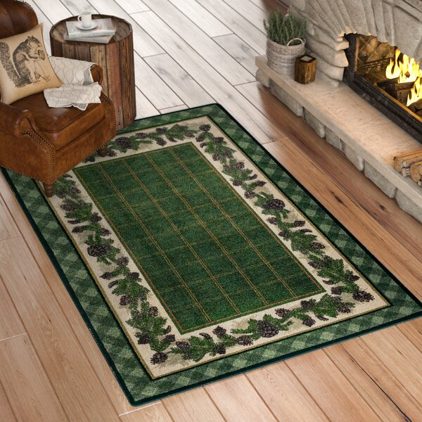 Cadell Pine Green Area Rug by Loon Peak