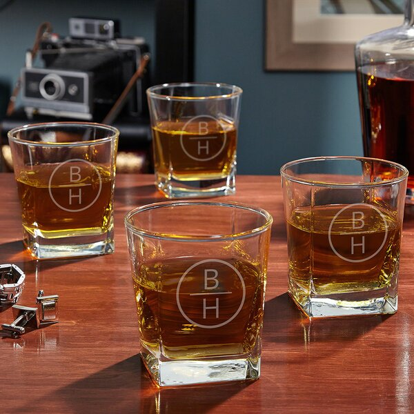 Emerson Custom Rutherford 10 oz. Whiskey Glass (Set of 4) by Home Wet Bar