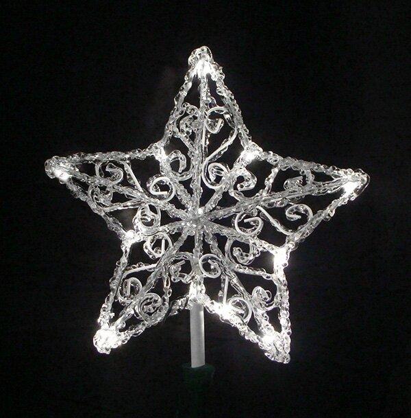"Vickerman 11.5"" Lighted Icy Crystal Star Christmas Tree ..."