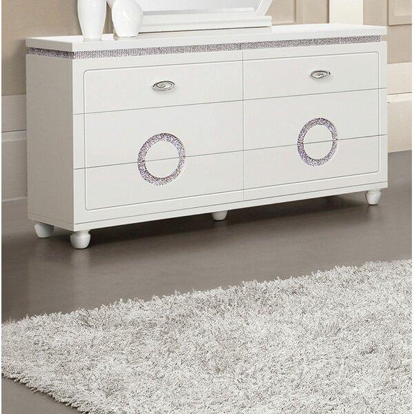 Krueger 6 Drawer Double Dresser by Orren Ellis
