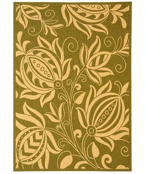 Laurel Olive / Natural Outdoor Area Rug by August Grove