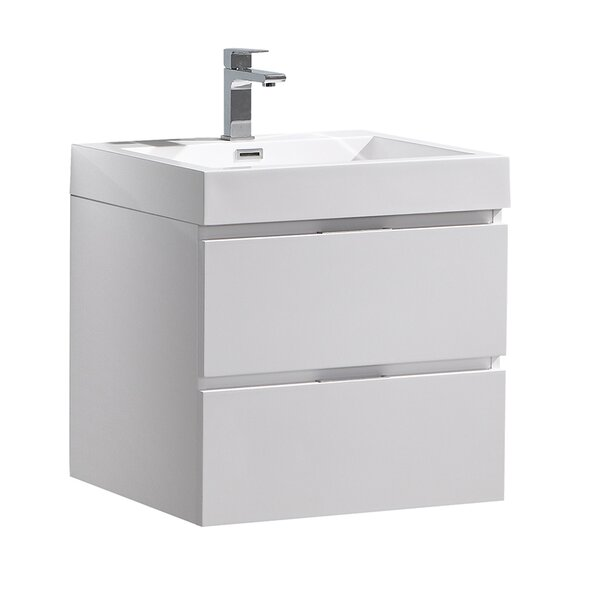 Senza Valencia 24 Wall Mounted Single Bathroom Vanity Set by Fresca