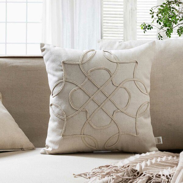 Braided Brooke Throw Pillow by 14 Karat Home Inc.
