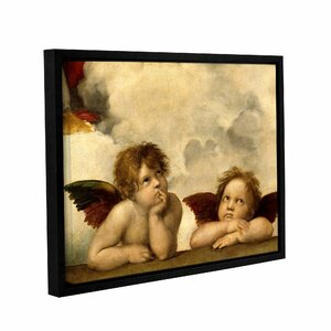 Cherubs by Raphael Framed Painting Print on Wrapped Canvas by ArtWall
