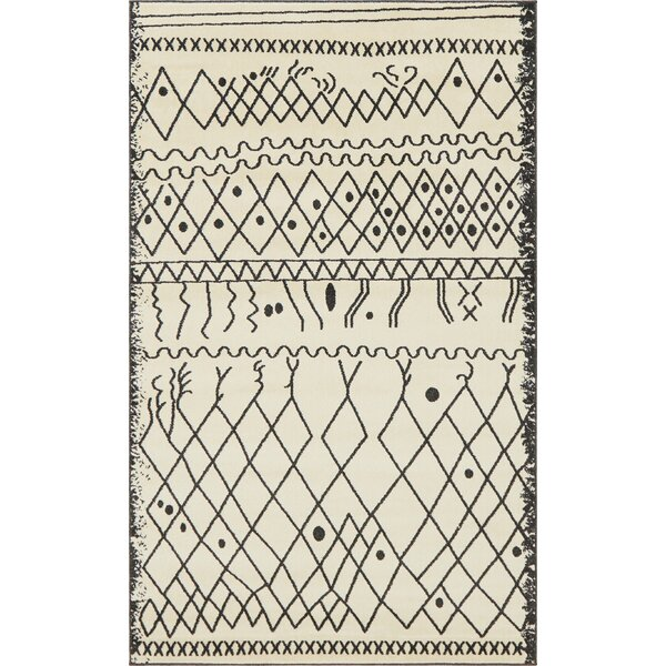 Foxhill Beige Area Rug by Bungalow Rose