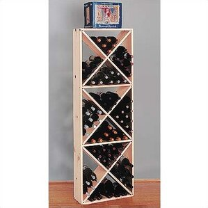 Country Pine Solid 132 Bottle Floor Wine Rack by Wine Cellar Innovations