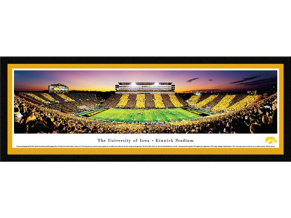 NCAA Iowa, The University of - Football - Spirit Week by Robert Pettit Framed Photographic Print by Blakeway Worldwide Panoramas, Inc