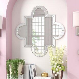 Willa Arlo Interiors Beveled Quatrefoil Wall Mirror