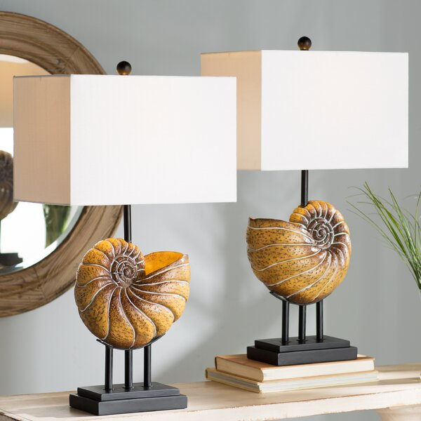 Newell Shell 28 Table Lamp (Set of 2) by Beachcrest Home