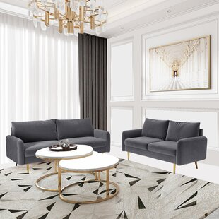 2 Piece Velvet Living Room Set by Willa Arlo™ Interiors