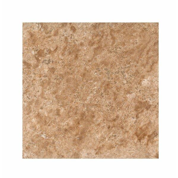 18 x 18 Travertine Field Tile in Light Walnut Honed by Parvatile