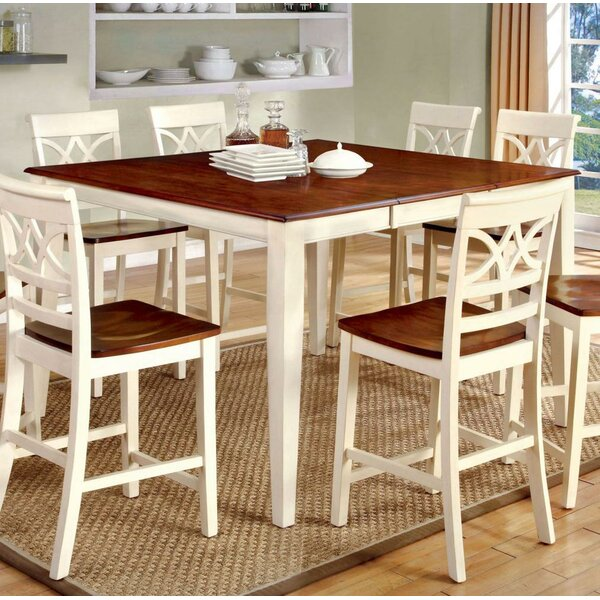 Izayah Counter Height Solid Wood Dining Table by August Grove