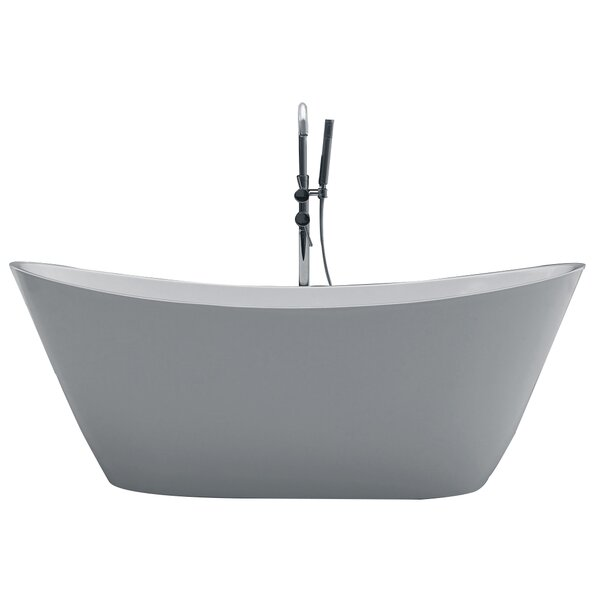 Opalo 60 x 27 Freestanding Soaking Bathtub by Orren Ellis