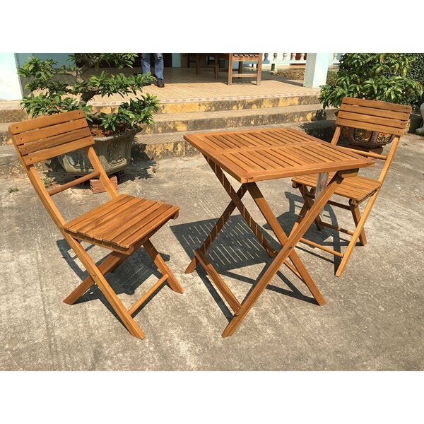 Danforth 3 Piece Bistro Set by Bay Isle Home