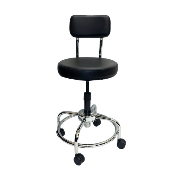 Height Adjustable Lab Stool with Free Spin Lift by ShopSol