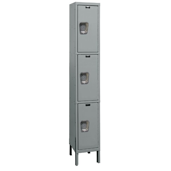 Maintenance-Free 3 Tier 1 Wide Employee Locker by HallowellMaintenance-Free 3 Tier 1 Wide Employee Locker by Hallowell