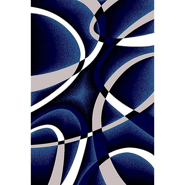 Ivy Bronx Mccampbell Abstract Navy Blue White Gray Area Rug Reviews Wayfair
